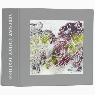 Expressive Abstract. Autumn Leaves. 3 Ring Binder