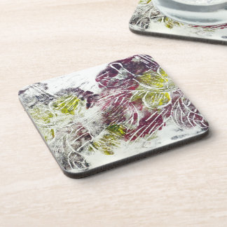 Expressive Abstract. Autumn Leaves. Coaster