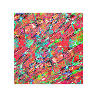 Expressive Abstract Grunge Canvas Print
