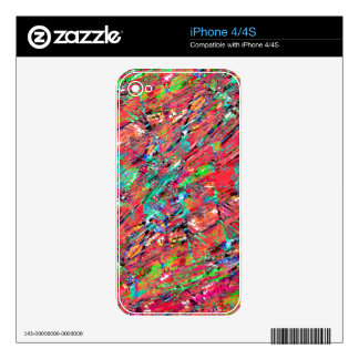 Expressive Abstract Grunge iPhone 4S Skins