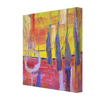 Expressive abstract painting canvas print