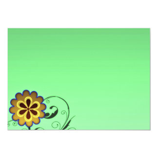 Expressive blossom and swirls special gift card
