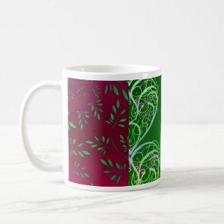 Expressive Greenish swirls and leaves Coffee Mug