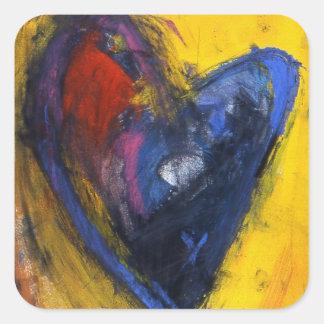 Expressive Heart Square Sticker