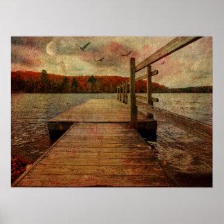 Expressive Lake Print