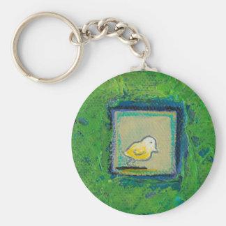 Expressive little birds - still learning - fun art keychain