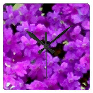 Expressive Wildflowers Purple Flowers Floral Clock