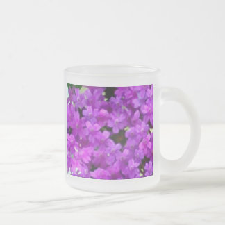 Expressive Wildflowers Purple Flowers Floral Frosted Glass Coffee Mug