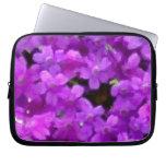 Expressive Wildflowers Purple Flowers Floral Computer Sleeves