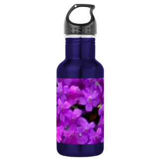 Expressive Wildflowers Purple Flowers Floral Stainless Steel Water Bottle