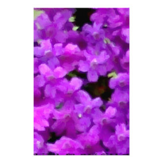 Expressive Wildflowers Purple Flowers Floral Stationery