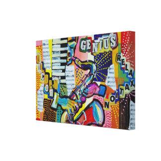 Expresstionist Cubist Saxophone Goldern Icon 902 Canvas Print