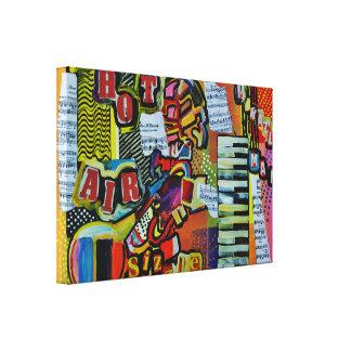 Expresstionist Cubist Trumpet Miracle Man 898 Canvas Print