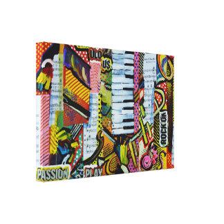 Expresstionist Cubist Violin Rocking 897 Canvas Print