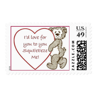 Exprímame franqueo del oso sello postal