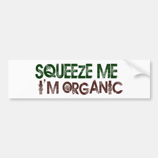 Exprímame orgánico pegatina para auto