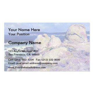 Exprimidor del punto de las rocas del individuo su tarjeta de visita