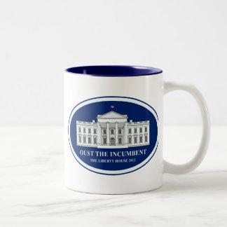 Expulse al titular - casa 2012 de la libertad taza de café de dos colores