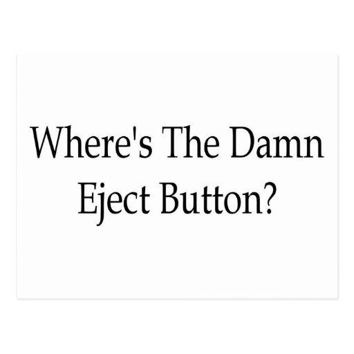 ¿Expulse el botón? Postal