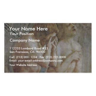 Expulsion From Paradise  By Masaccio (Best Quality Double-Sided Standard Business Cards (Pack Of 100)