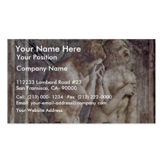 Expulsion From Paradise By Masaccio (Best Quality) Double-Sided Standard Business Cards (Pack Of 100)