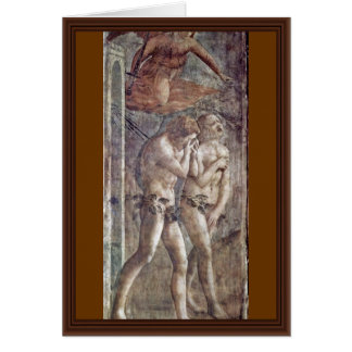 Expulsion From Paradise By Masaccio (Best Quality) Greeting Cards