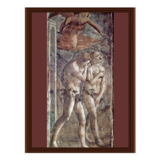 Expulsion From Paradise By Masaccio (Best Quality) Postcard