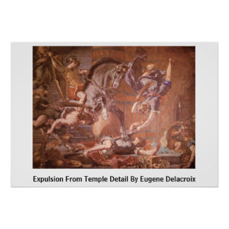 Expulsion From Temple Detail By Eugene Delacroix Posters