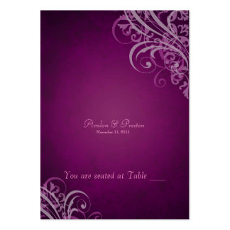 Exquisite Baroque Pink Scroll Placecardn Large Business Cards (Pack Of 100)