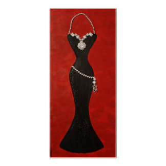 """""""Exquisite Black Gown"""" Poster"""