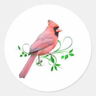 Exquisite Cardinal Classic Round Sticker