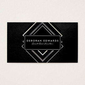 Exquisite Faux Leather Geometric Business Card