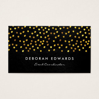 Exquisite Faux Leather Golden Specks Business Card