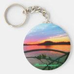 Exquisite  Florida sunset Keychains