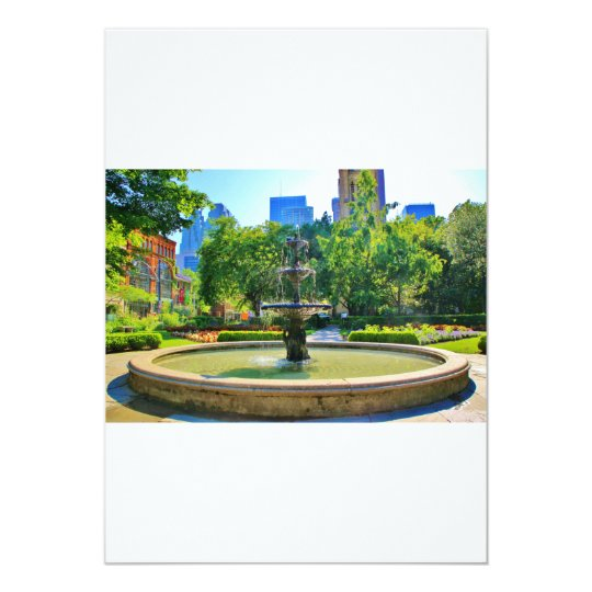 Exquisite Fountain in a Park Card