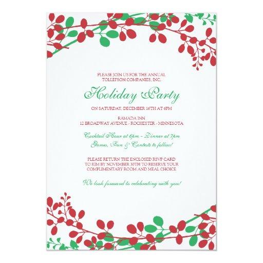 Exquisite Garden Christmas Invitation - New