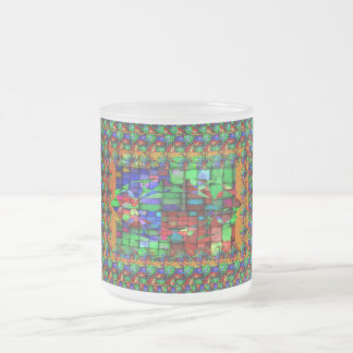 Exquisite Glass Mosiac Frosted Glass Coffee Mug