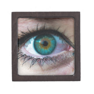 Exquisite green eye closeup surreal photo gift premium trinket boxes