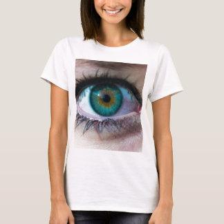 Exquisite green eye closeup surreal photo gift T-Shirt