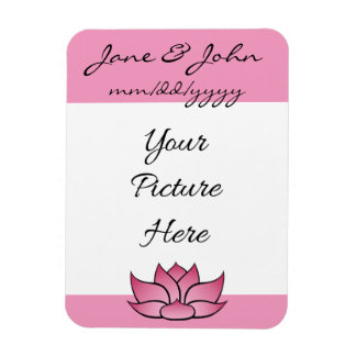 Exquisite Lotus in Pink Save-the-Date Magnet
