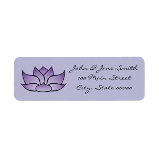 Exquisite Lotus in Purple Return Address Label