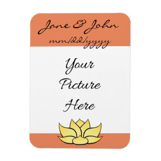 Exquisite Lotus in Sun Kissed Save-the-Date Magnet