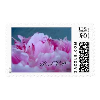 Exquisite Peony Wedding Postage Stamps