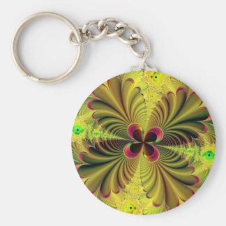 Exquisite Plant Basic Round Button Keychain