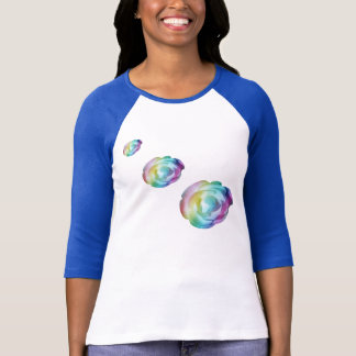 exquisite rainbow colored rose, shirt