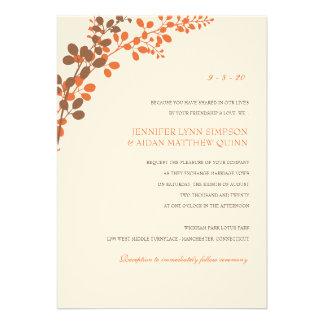 Exquisite Vines (Bronze & Orange) Invitation