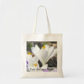 Exquisite White Crocuses Tote Bag