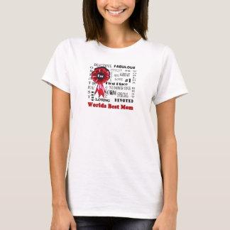 Exquisite Word Collage Worlds Best Mom T-Shirt