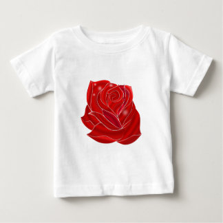 Exquisitely Beautiful Red Rose Flower Baby T-Shirt
