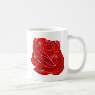 Exquisitely Beautiful Red Rose Flower Coffee Mug